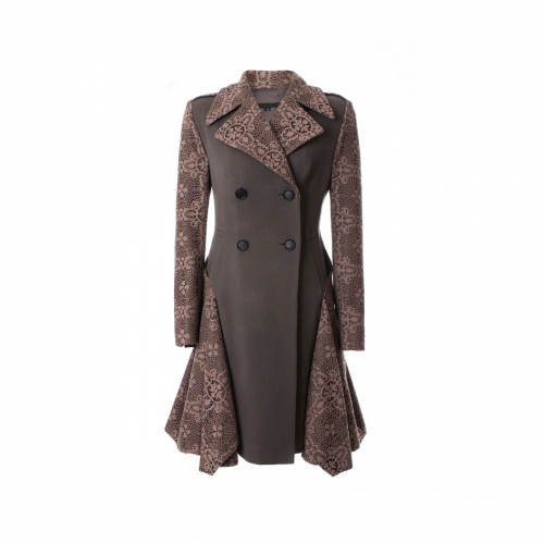 [BEONGLEE] DRAPED LACE TRENCH COAT_BLF15-7002