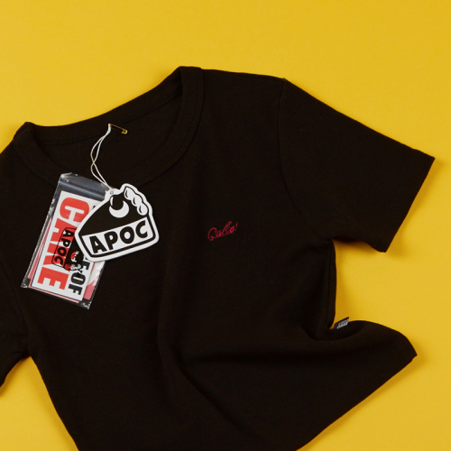 [APOC]Cake Logo Crop Top Black