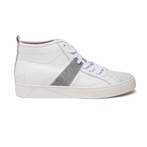 [HA.TISS] Bright Nudles White High-Top
