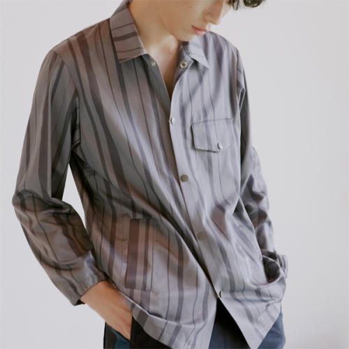 [blair by square] Stripe Poly Shirt