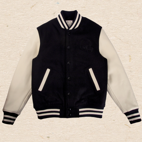 하드보일드 코믹스A boy Knocked Varsity Jacket