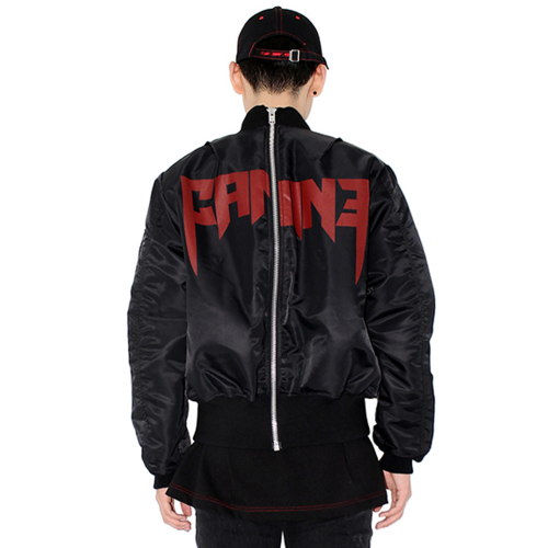 에이치씨엘 [HAN CHUL LEE]BACK ZIPPER MA-1 BLACK