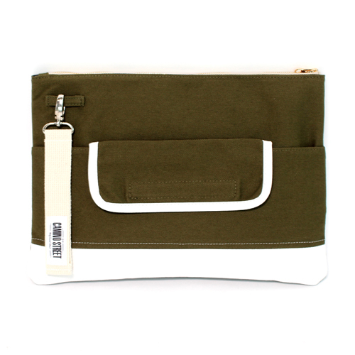 카미노스트릿 CAMINO STREET Clutch Bag (KaKi)