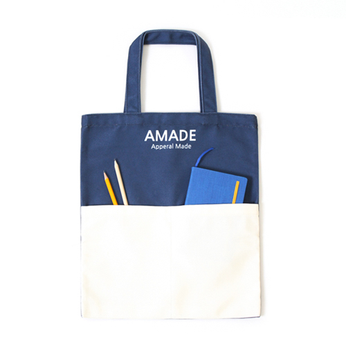 [AMADE] Two Pocket Eco Bag Navy