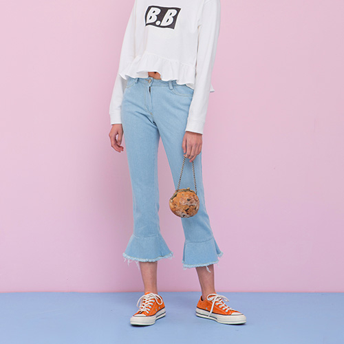 [네스티해빗] DENIM FLARE PANTS (SKY BLUE)