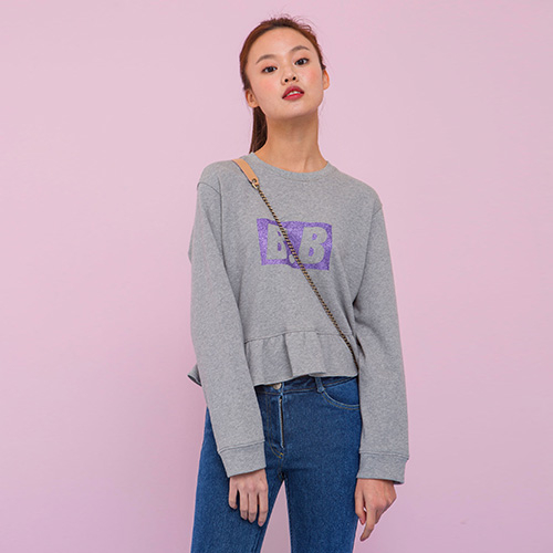 [네스티해빗] FLARE CROP TOP (GREY)