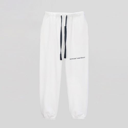 [ATICLE] Ribbon Tape Point Basic Sweatpants_WT