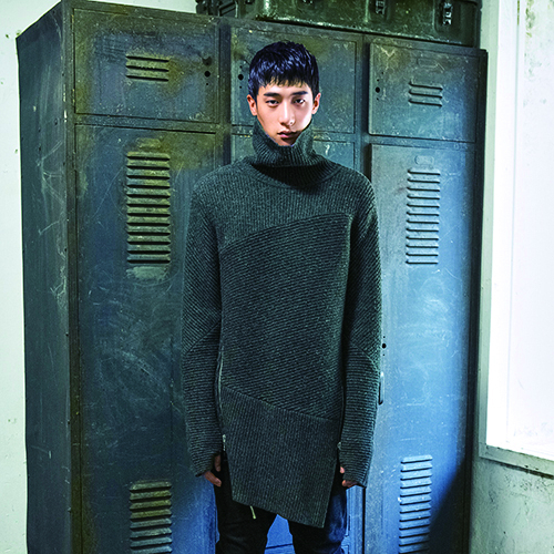[비뮈에트][BMUET(TE)] MENS KNIT TURTLE-NECK