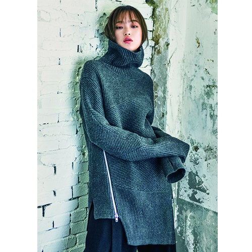 [비뮈에트][BMUET(TE)]WOMENS KNIT TURTLE NECK