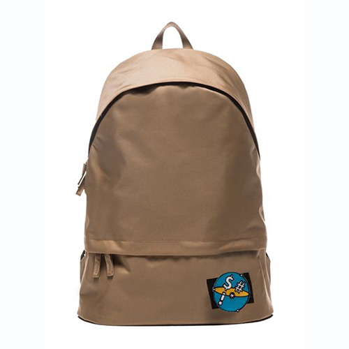 [APO13] VELCRO PATCH DAY BACKPACK (BEIGE)