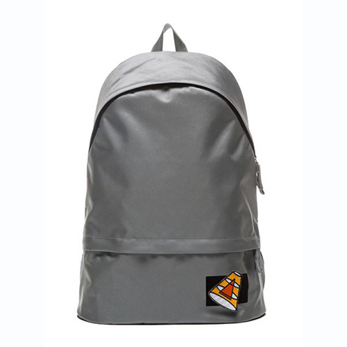 [APO13] VELCRO PATCH DAY BACKPACK (GRAY)