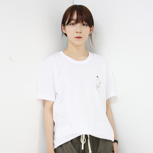 [AMADE] Modern Drawing Cotton Tee