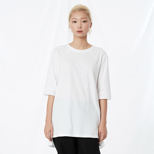 [리릭] RELAXED COTTON MID-SLEEVE WHITE (WOMEN)