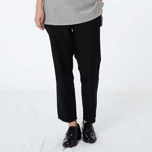 리릭 [리릭] COTTON DRAW STRING PANTS BLACK (WOMEN)