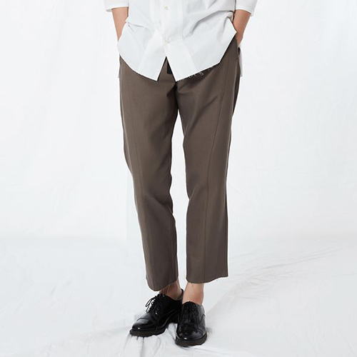 리릭 [리릭] COTTON DRAW STRING PANTS BROWN (WOMEN)
