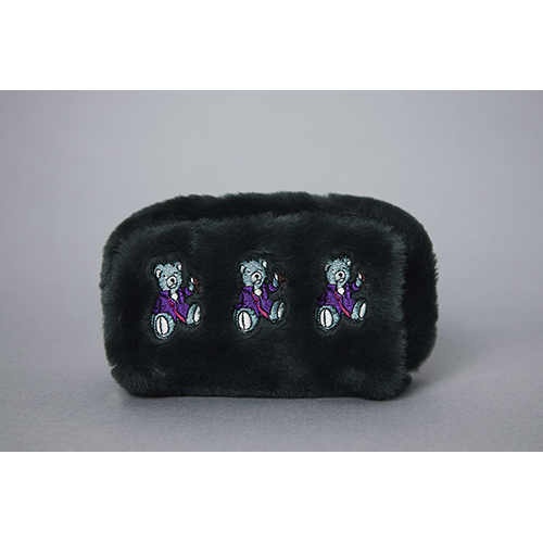 [헤이미스타타] drunken bear faux fur pouch