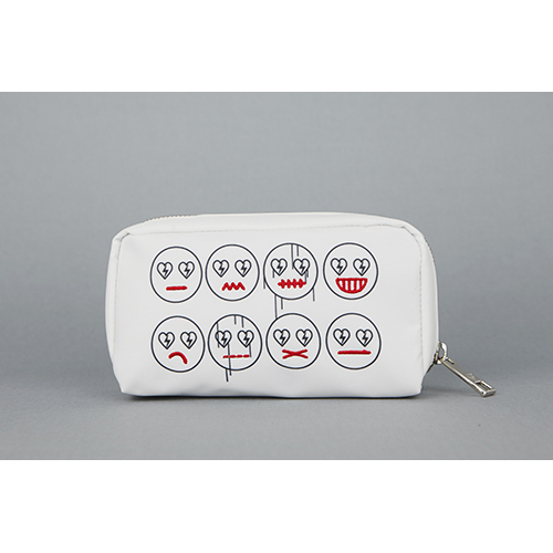 [헤이미스타타] embroidered smile pouch