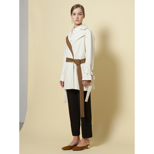[ Le yiel ] Belt drag Trench Jacket_Ivory