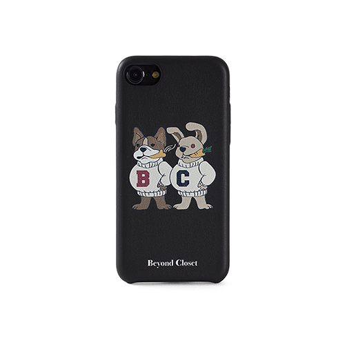 [COLLECTION LINE]DOG-RABBIT IPHONE7 CASE BLACK