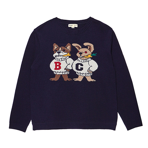 [COLLECTION LINE]DOG-RABBIT KNIT NAVY