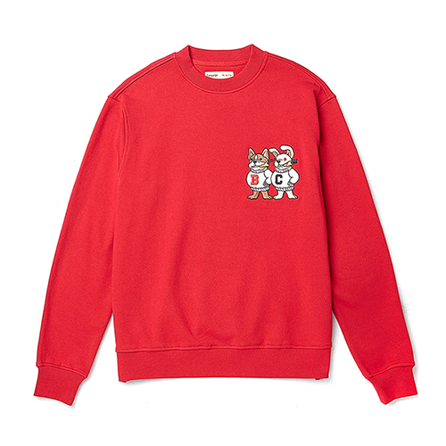 [COLLECTION LINE]DOG-RABBIT SWEAT-SHIRTS DEEP RED