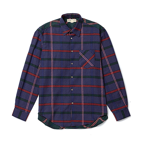 [COLLECTION LINE]COLOR BLOCK CHECK SHIRTS VIOLET