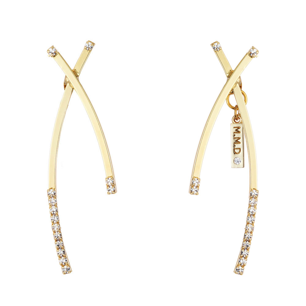 [마이믹스드디자인]M.M.D Season2 curved bar earrings