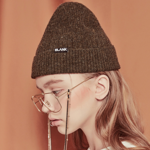[블랭크]WOOL SHORT BEANIE-GREEN