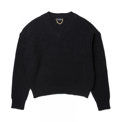 [비욘드클로젯][COLLECTION LINE]HEAVY WEIGHT PULL OVER KNIT BLACK