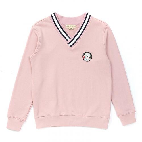 [비욘드클로젯][기모]APOLLO DOG V-NECK SWEAT-SHIRTS 2017WINTER INDI PINK