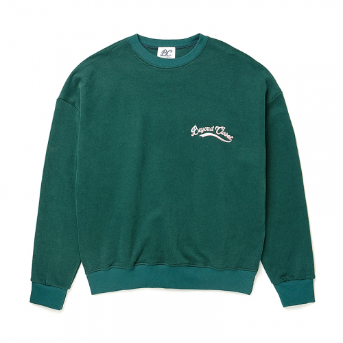 [비욘드클로젯][기모]10 ANNIVERSARY LOGO SWEAT-SHIRTS DEEP GREEN