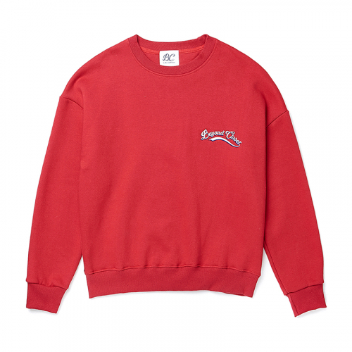 [비욘드클로젯][기모]10 ANNIVERSARY LOGO SWEAT-SHIRTS RED