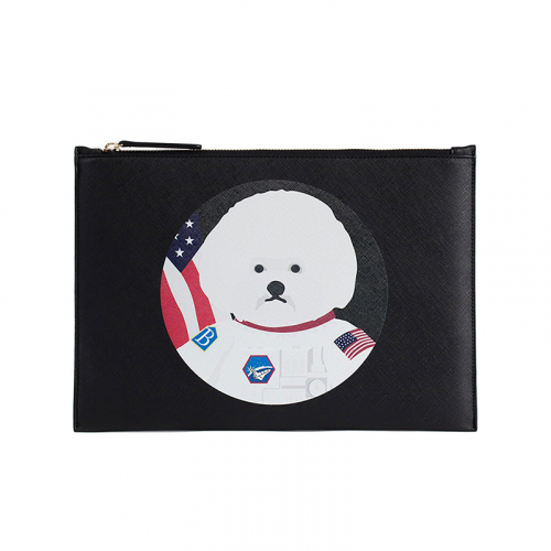 [1/26출고][비욘드클로젯]APOLLO DOG SAFFIANO CLUTCH 2017WINTER BLACK