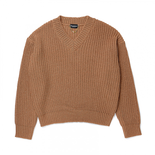 [비욘드클로젯][COLLECTION LINE]HEAVY WEIGHT PULL OVER KNIT BEIGE