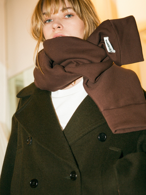 [레티켓스튜디오] Lark jersey muffler, Brown