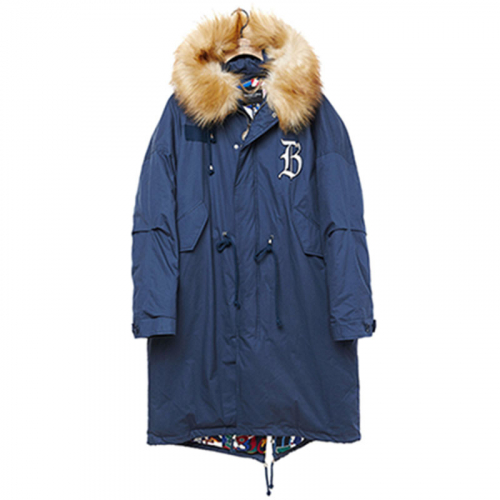 [비욘드클로젯][COLLECTION LINE]MY B MILITARY LONG PARKA INDIGO BLUE