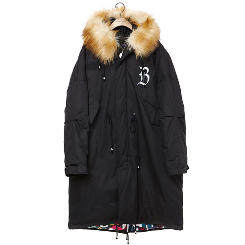 [비욘드클로젯][COLLECTION LINE]MY B MILITARY LONG PARKA BLACK