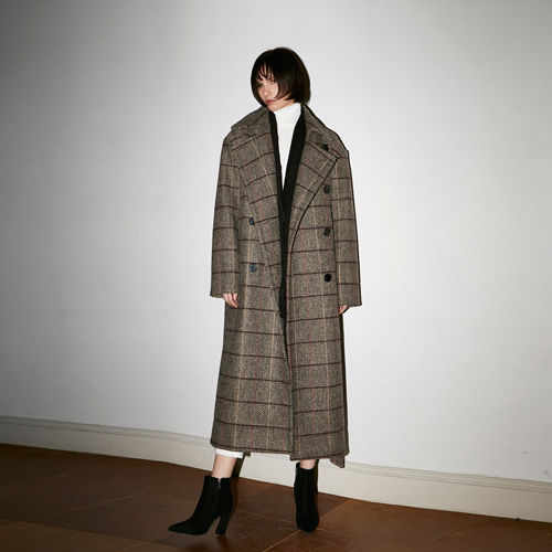 [호웰] HOWELL SUPER OVERSIZE DOUBLE BREASTED COAT