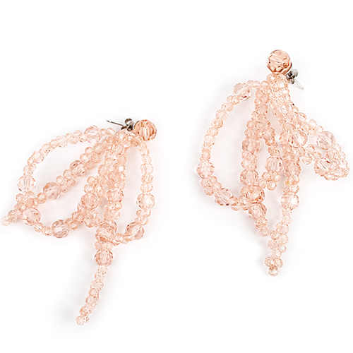 Peach Crystal lvy Earring[DL18SSER20PHF]