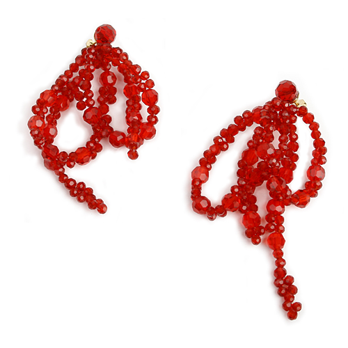 Red Crystal lvy Earring[DL18SSER20RDF]