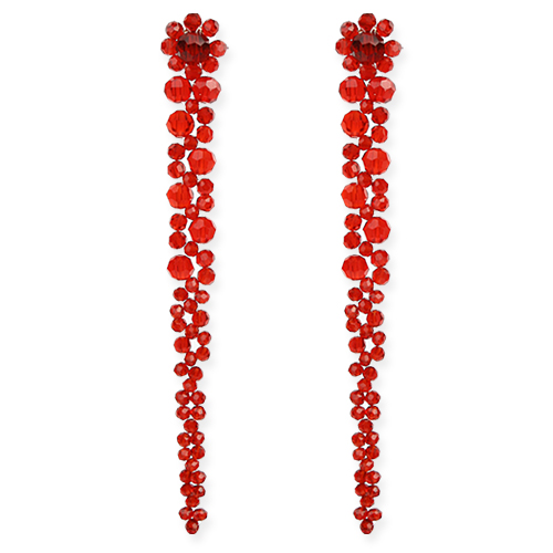 Flower Crystal Earring[DL18SSER14RDF]