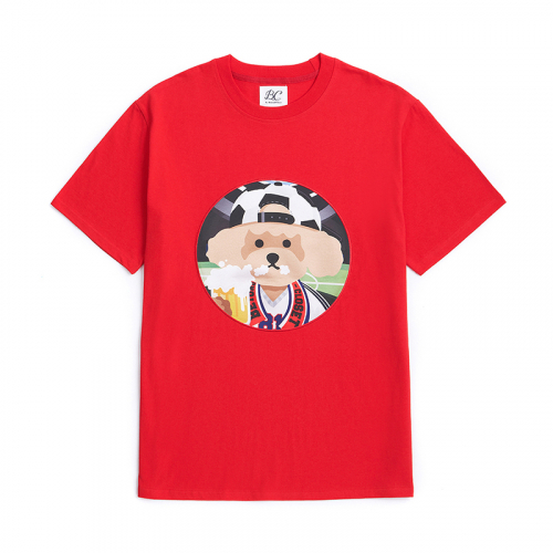 [6/29출고]SOCCER DOG PATCH 1/2 T-SHIRTS RED