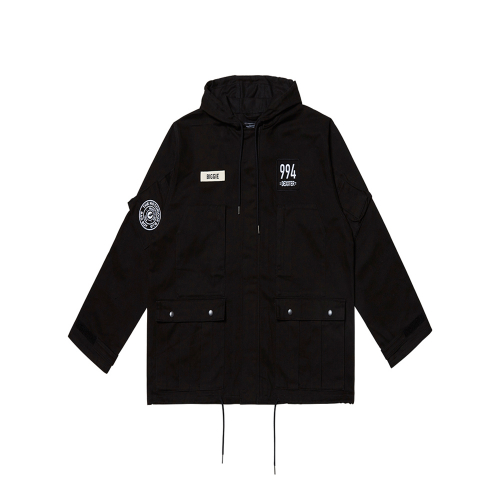 [댁스터] BIGGIE MILITARY PARKA(BLACK)