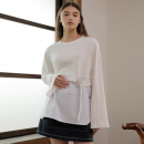 [와드로브] BELT LAYERED T-SHIRT_IVORY