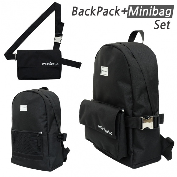 [와드로브] PLUS BACKPACK_BLACK