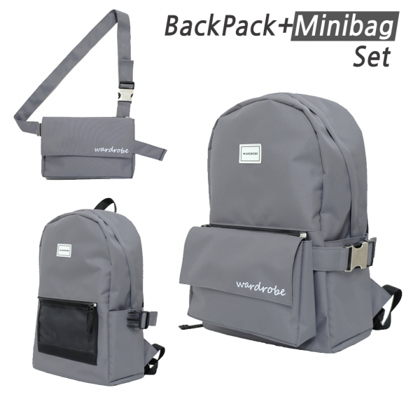 [와드로브] PLUS BACKPACK_GRAY