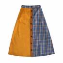 [라잇루트]MUSTARD CHECK COLOR LONG SKIRT [강한솔]
