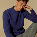 [DEANS] LAMBS WOOL SWEATER_ROYAL BLUE