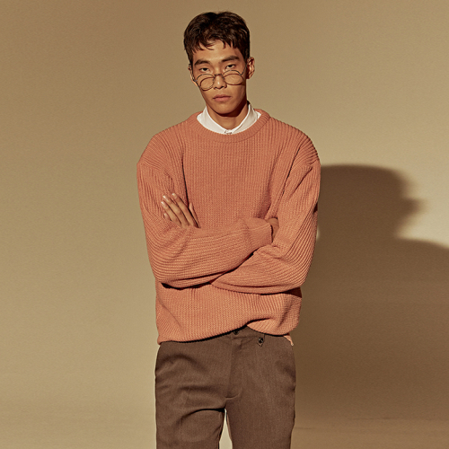 [DEANS] DROP OVER-FIT SWEATER_PINK