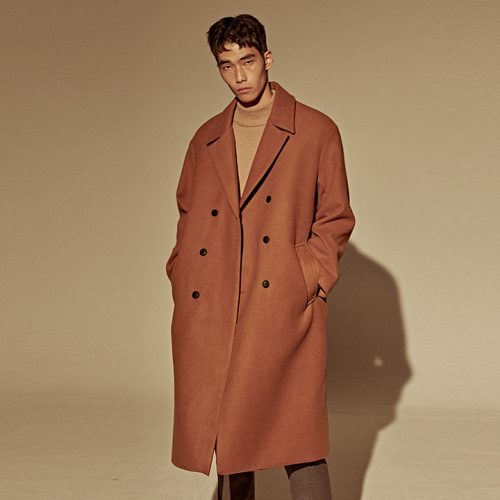 [DEANS] WOOL OVER-FIT DOUBLE COAT_CAMEL